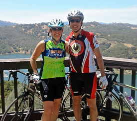 Ross and Marion Hauser biking after prolotherapy