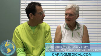 Patient interview: Prolotherapy for spinal stenosis and peroneal nerve pain