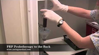 PRP Prolotherapy injections to the low back