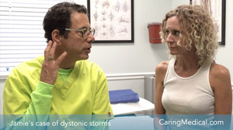Dystonic storms - DMX review and Prolotherapy results with Dr. Ross Hauser and patient, Jamie