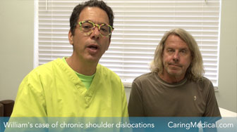 Chronic dislocating shoulder fixed with Prolotherapy instead of surgery