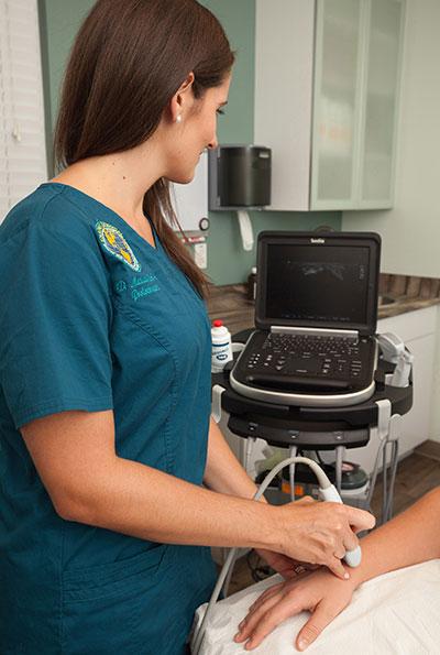 Wrist ultrasound examination
