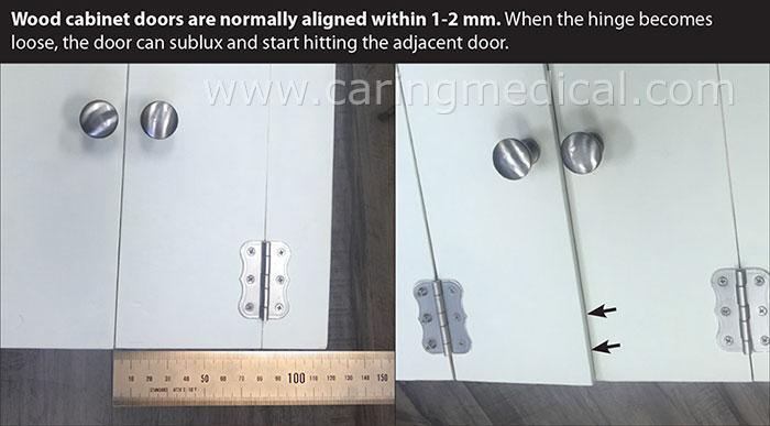 cabinet door gap normal width