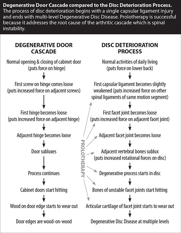 disc deterioration process vs degenerative door cascade