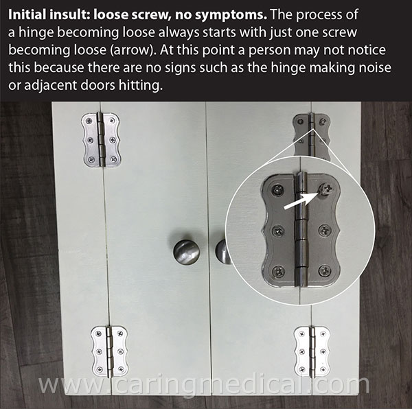 loose screw no symptoms