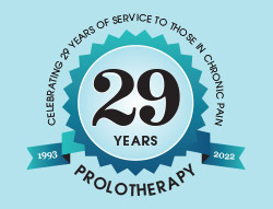 Chronic pain relieved with Prolotherapy