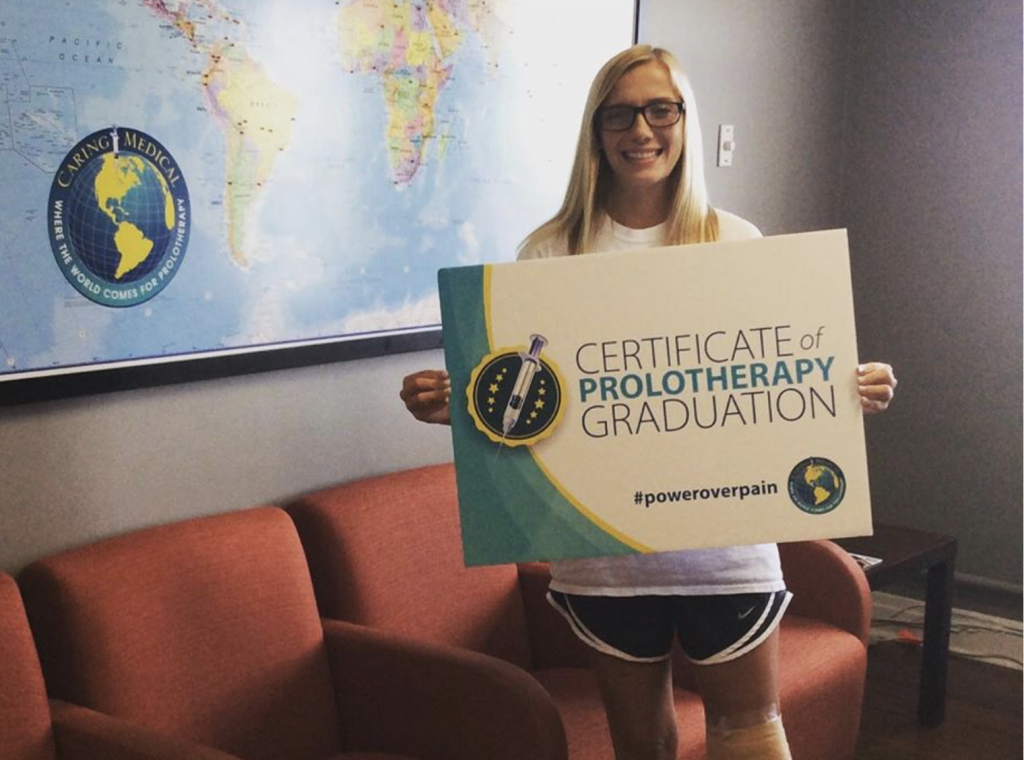 Prolotherapy is there to help her if she sustains further injuries while doing the activities she loves!