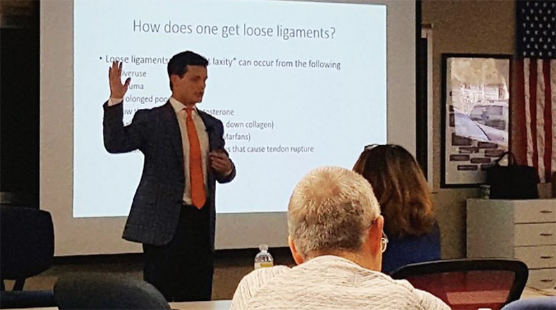 Lecturing at the 2018 Digital Motion X-ray Meeting